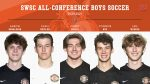 Congratulations to the SWSC All-Conference athletes for boys soccer! Aaron, Evan, Codey, Connor & Ian!