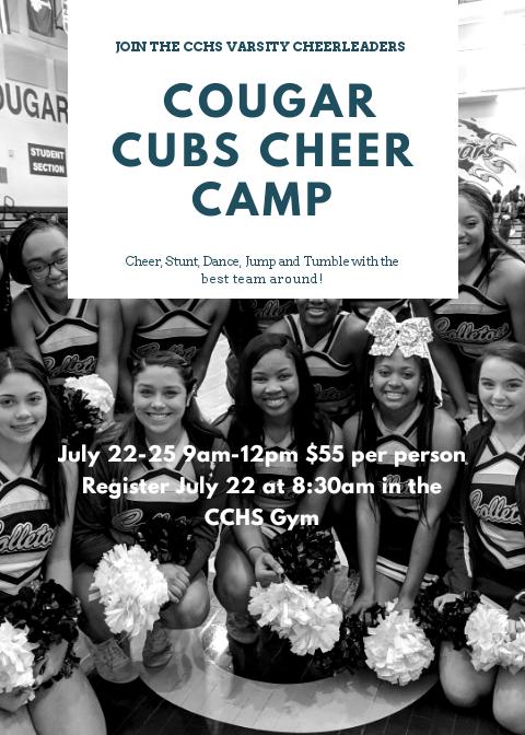 Cougar Cubs Cheer Camp!