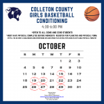 Colleton County Girls Basketball Conditioning Schedule