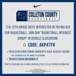 Colleton County Boys Basketball
