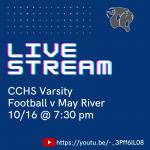 Live Stream: Varsity Football v May River 10/16 @ 7:30 pm