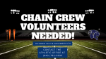 Volunteers Needed: Football Chain Crew 10/30 and 11/6