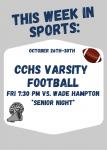 This Week in Sports: Varsity Football SENIOR NIGHT!
