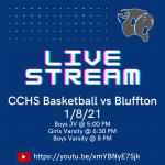 CCHS Basketball vs Bluffton 1/8: LIVE STREAM LINK