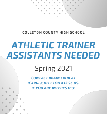 Athletic Trainer Assistants Needed!