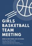 Girls Basketball Meeting: Monday, May 10th @ 6 PM!