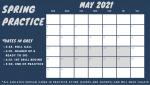 Football Spring Practice Schedule