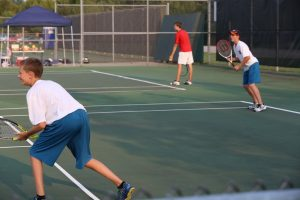 JV Boys Tennis at Spring Lake Quad 8.31.15