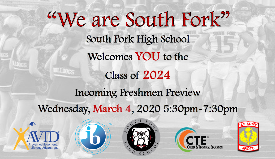 """""""We are South Fork"""" Freshman Preview Night"""