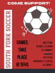 Come Out & Support SFHS Soccer