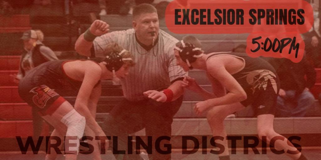 Boys Wrestling Districts at Excelsior 2/8!