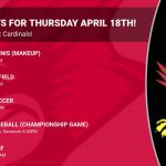 Events for Thursday April 18th!