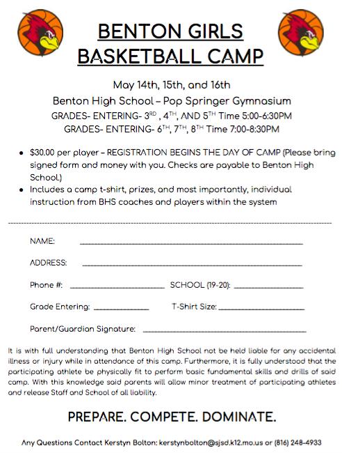 2019 Girls Youth Basketball Camp!