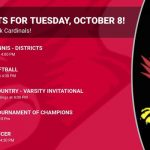 Events for Tuesday, October 8!