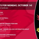 Events for Monday, October 14!