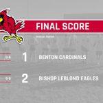 Benton Boys Soccer defeated by Bishop LeBlond 2-1