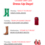 Red Ribbon Week is Next Week:  October 28th – October 31st!