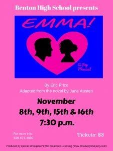 "Fall Musical – ""Emma"" Flyer"