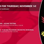 Events for Thursday, November 14!
