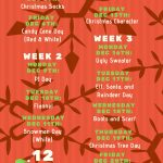 12 Days of Christmas –  Dress Up Days