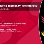 Events for Thursday, December 5!