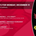 Events for Monday, December 9!