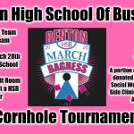"2019-2020 Benton High School of Business ""March Bagness"" Cornhole Tournament Sign Ups"