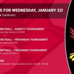 Events for Wednesday, January 22!