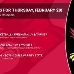 Events for Thursday, February 20!