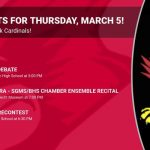 Events for Thursday, March 5!