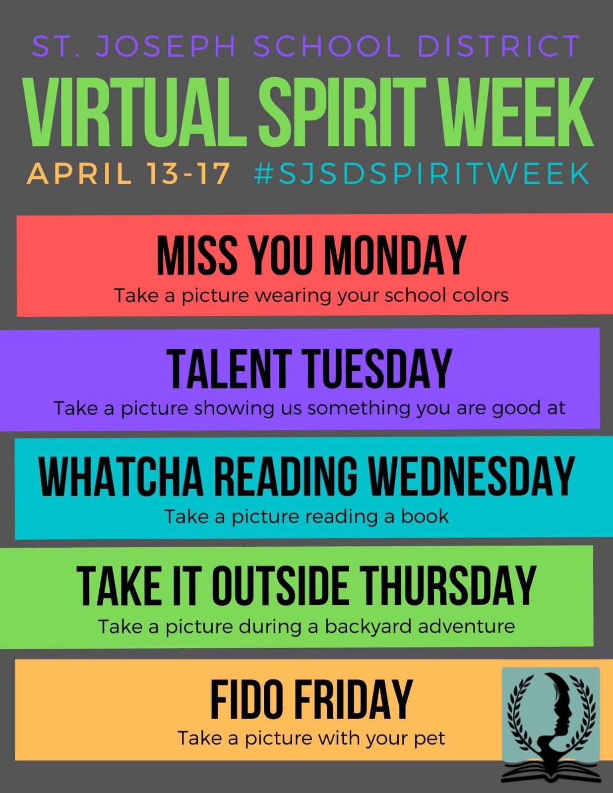 SJSD – Virtual Spirit Week