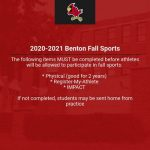 2020-2021 Benton Fall Sports Announcement
