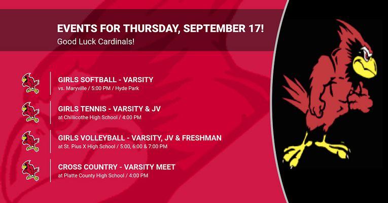 Events for Thursday, September 17!