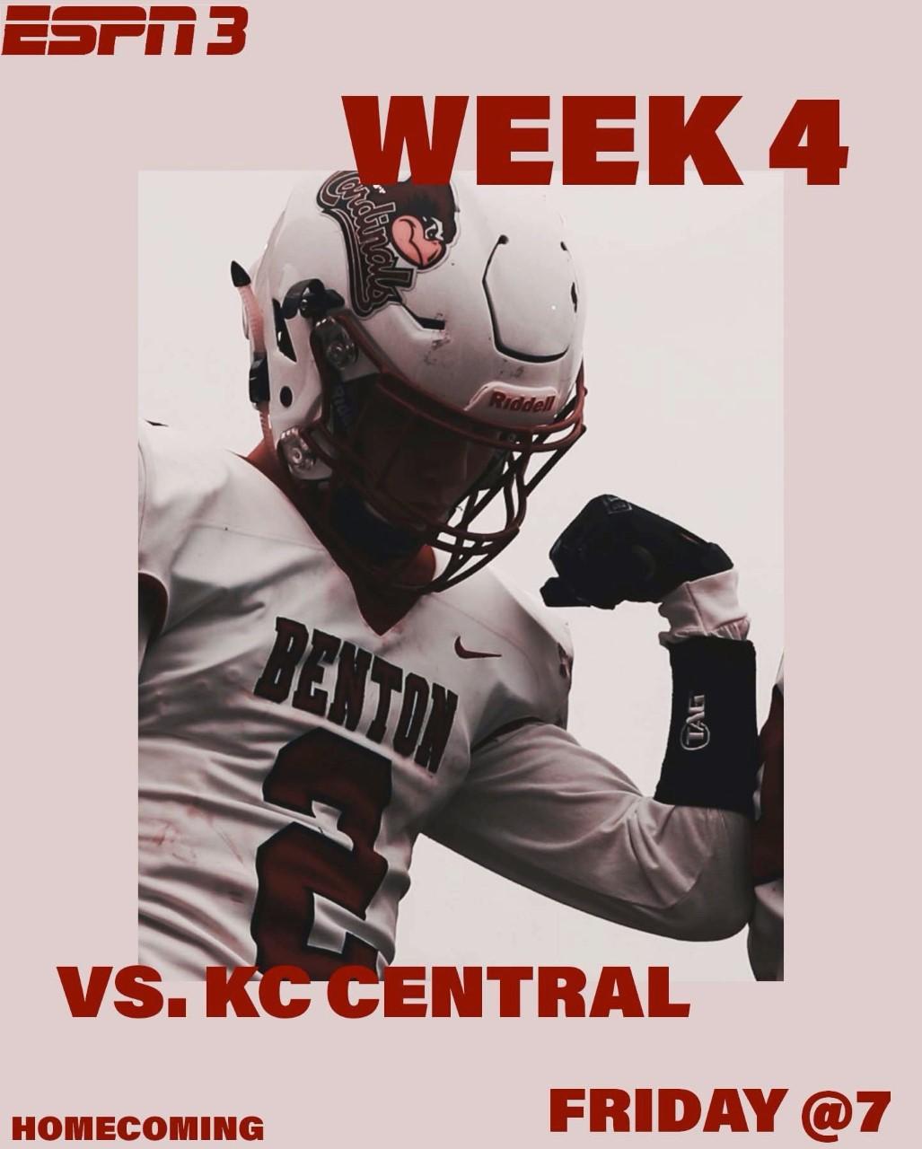 Benton Football – Benton Cardinals vs. KC Central Eagles