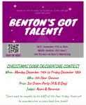"""""""Benton's Got Talent"""" & Door Decorating Contest"""