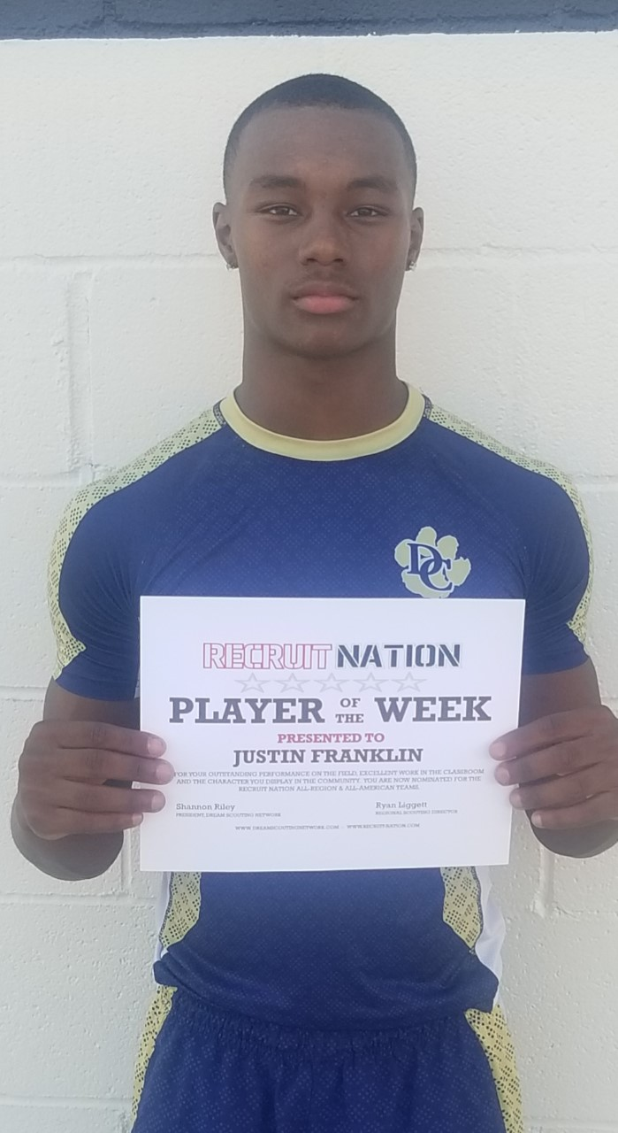 Franklin Wins Player of the Week Honor