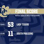 Girls Varsity Basketball beats South Paulding 53 – 11