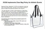 DCSS Clear Bag Policy