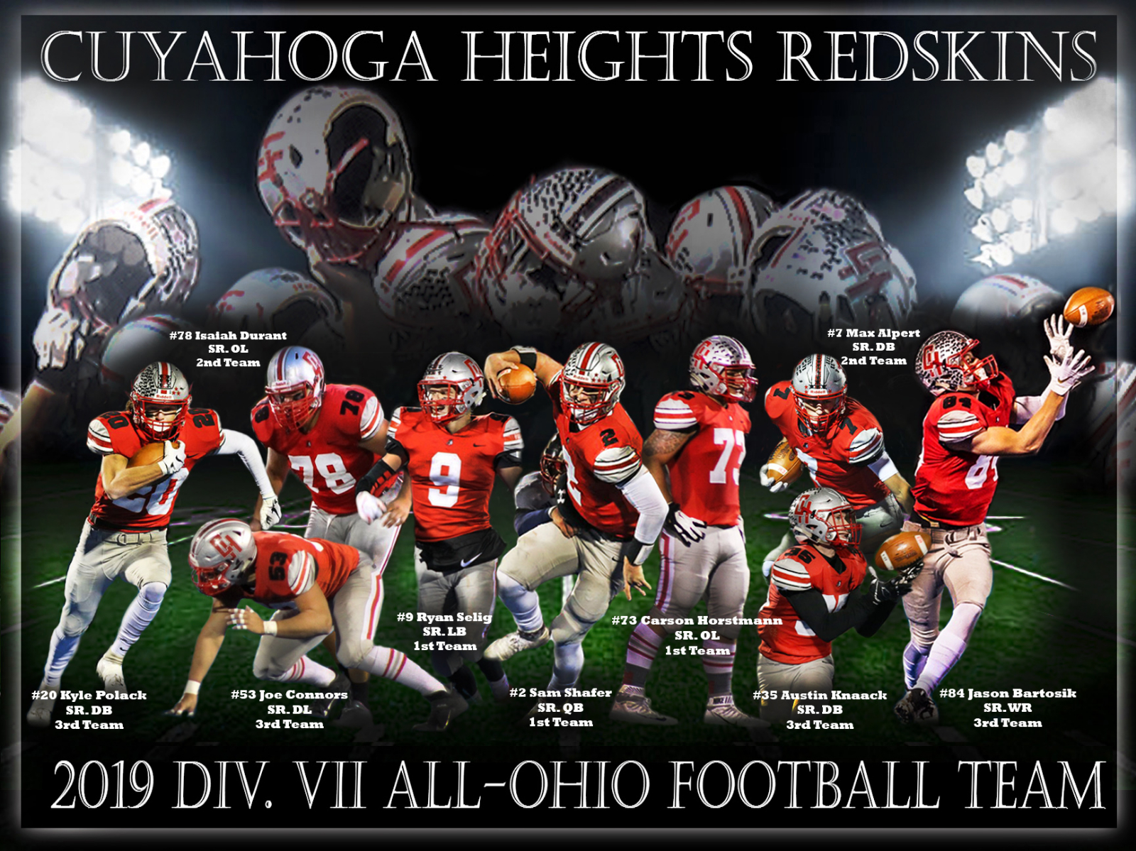 Congratulations to our ALL-STATE Football Award Winners