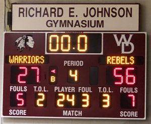 Randolph Southern Lady Rebels at Wes-Del Lady Warriors-11/9/18