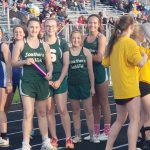 Girls Junior High Track finishes 4 place at MEC JH Track Meet