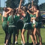 Girls Junior High Cross Country finish 6th place at Monroe Central Inv.