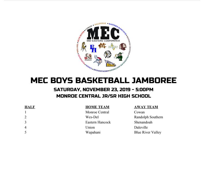 2019 MEC JAMBOREE THIS SATURDAY