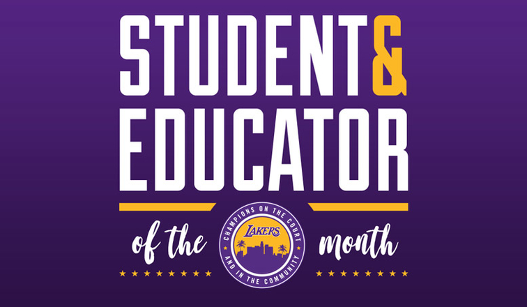 Los Angeles Lakers Student of the Month