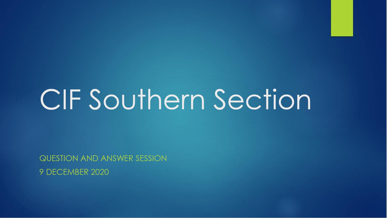 CIF Southern Section Q&A