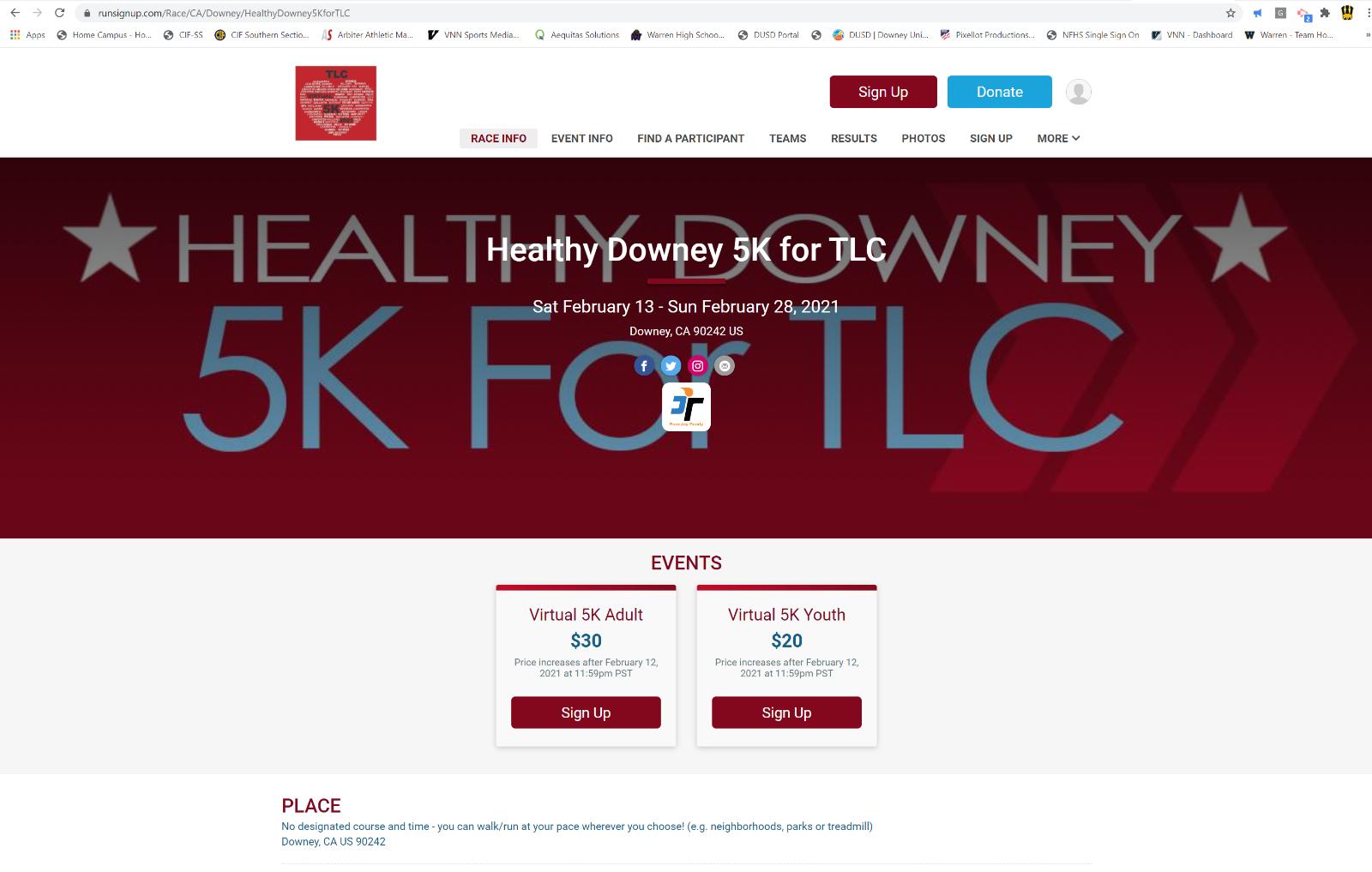 Downey TLC Virtual 5K