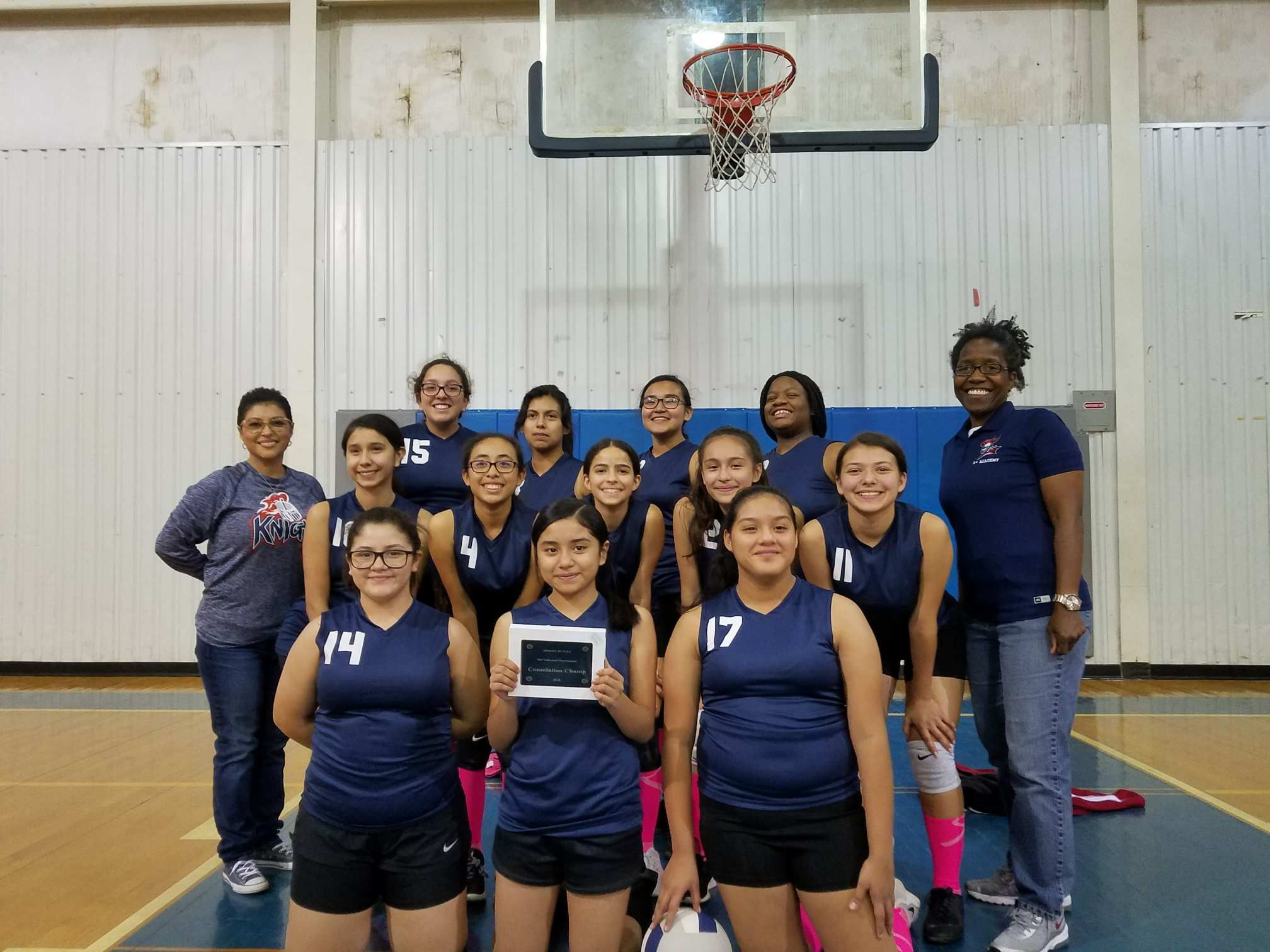 Middle School Volleyball take Consolation Championship at District Tournament