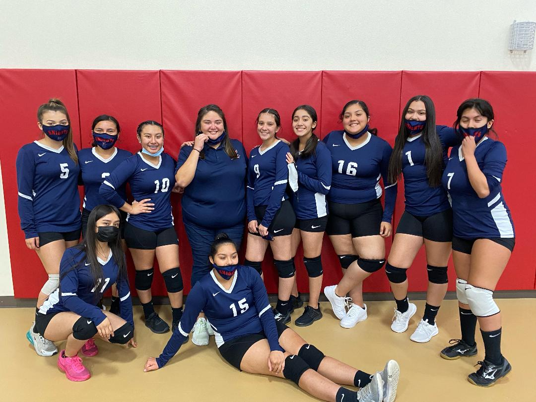 JV Lady Knights Volleyball get a win over Life Oak Cliff