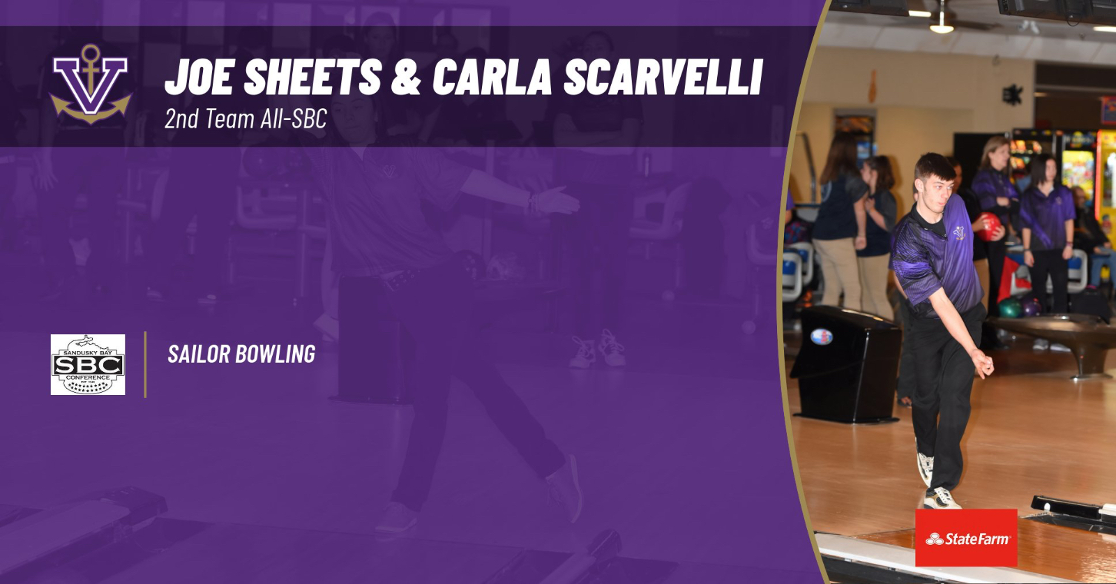Sheets and Scarvelli Top Sailor Bowling Honors