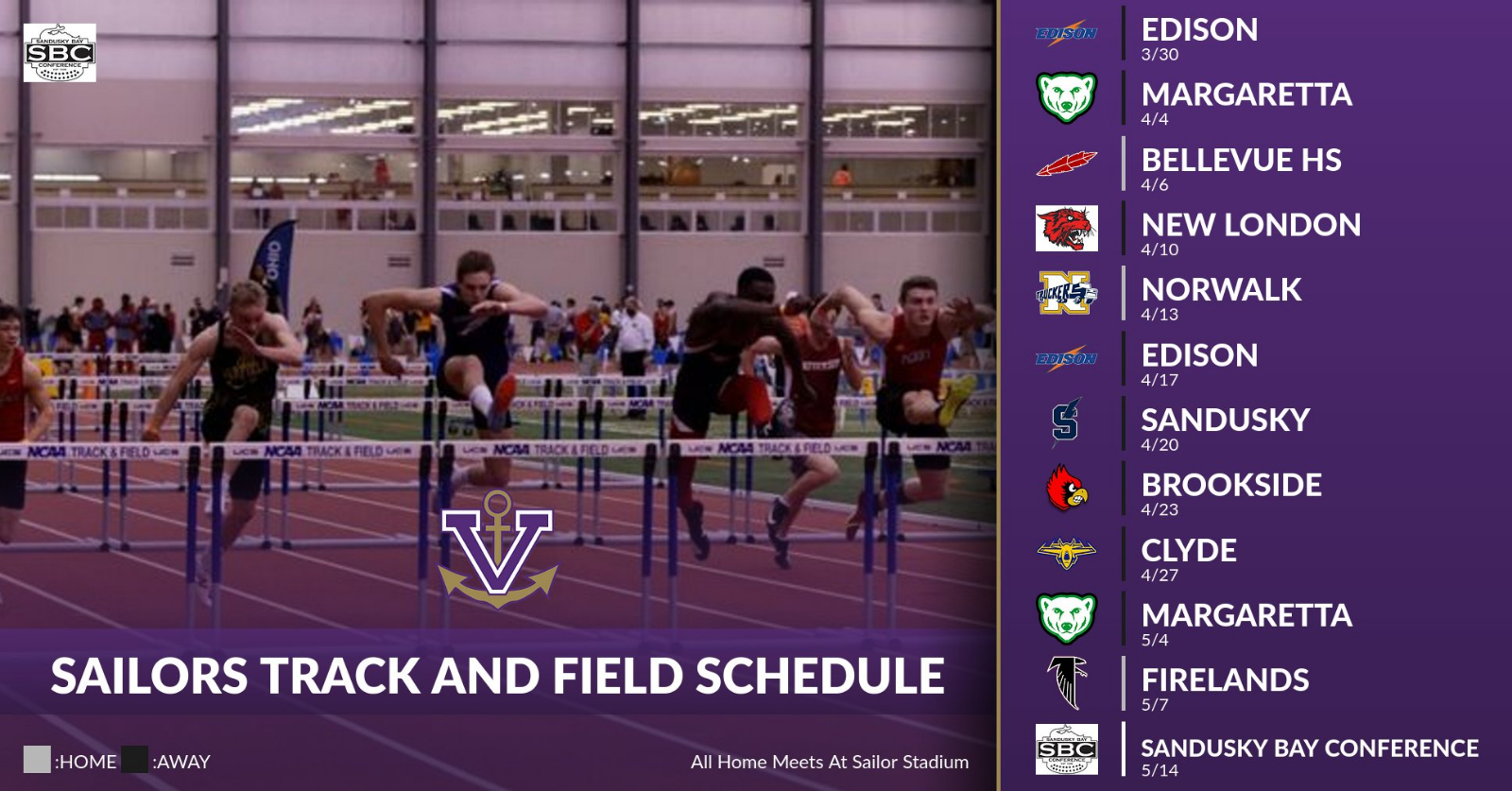Track and Field Schedule Released!